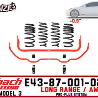 Eibach E43-87-001-02-22 | Pro-Plus Kit | Tesla Model 3 Long Range AWD