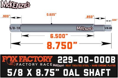 229-00-000B Fox Shock Shaft