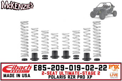 Eibach E85-209-019-02-22 | Pro-UTV Stage-2 Spring Kit | Polaris RZR PRO XP Ultimate