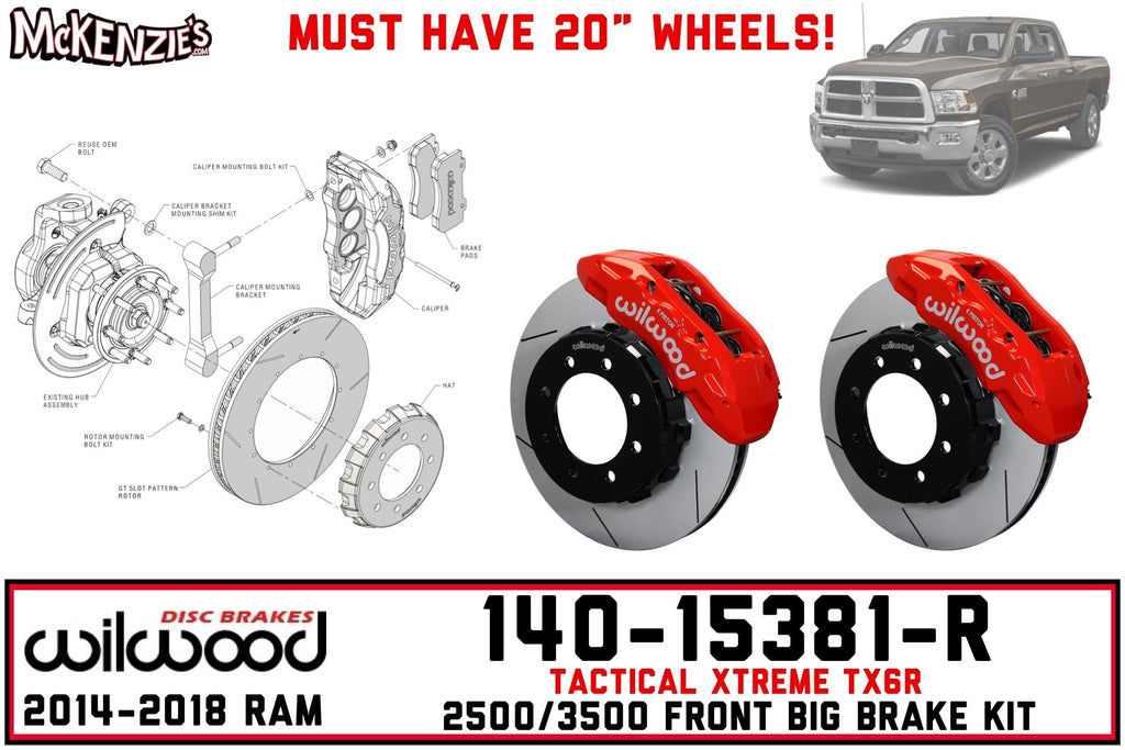 Wilwood 140-15381-R | Front TX6R Big Brake Kit | 2014-2018 Ram 2500/3500