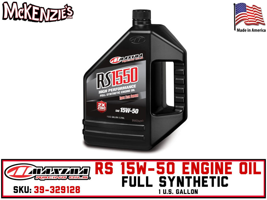 RS 15W-50 Full Synthetic Engine Oil | 1 U.S. Gallon | Maxima 39-329128