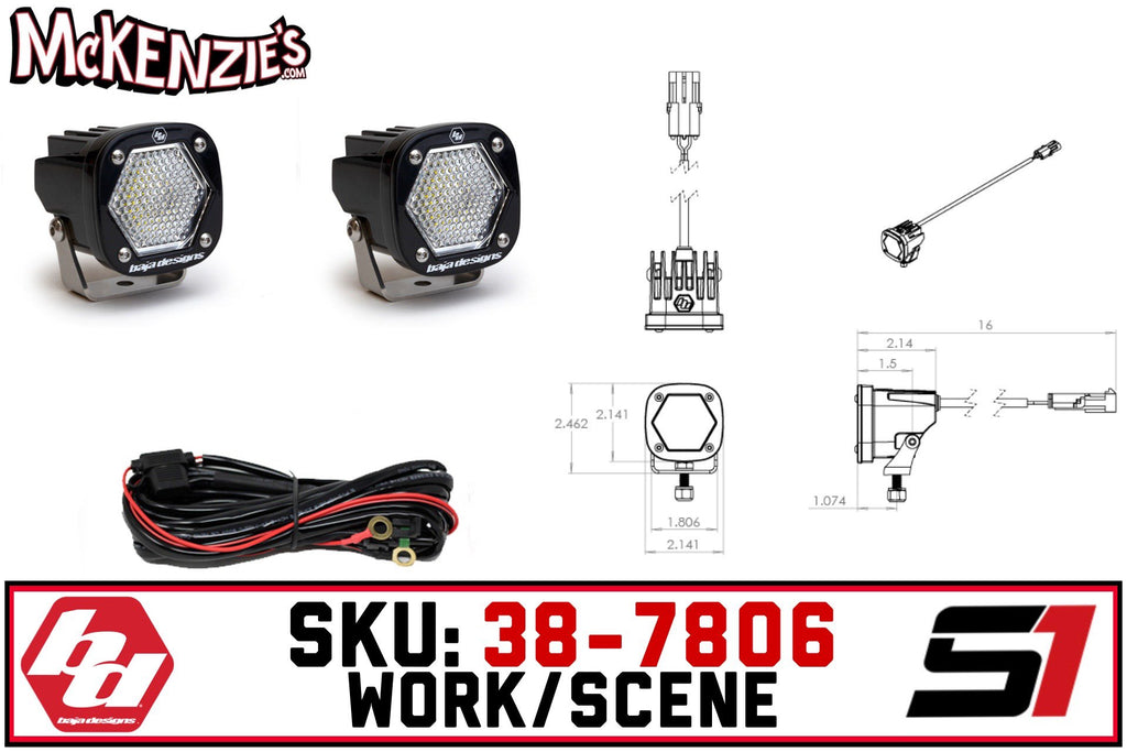 Baja Designs 38-7806 | S1 Work/Scene  | White LED