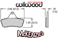 Wilwood 4108 Series Brake Pads - 2.66