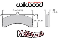 Wilwood 7516 Series Brake Pads - 5.99