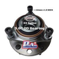 "ProAm Micro Stub Bearing ""MS1600NBH-KK"" - 33 Spline"