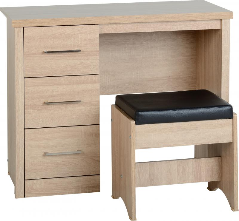 Lisbon 3 drawer dressing table set available in either light oak ...