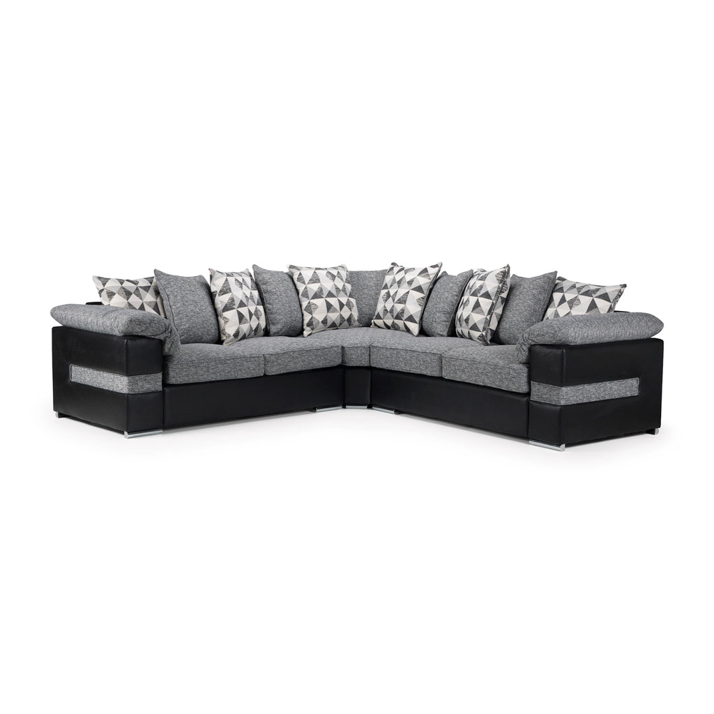 Serene Large Corner Sofa with Metal Action Pullout Sofabed (2 Seats Corner  2 Seats).