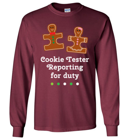 Christmas Holiday Ginger Puzzle Cookie Long Sleeve T Shirt