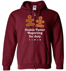 Christmas Holiday Ginger Puzzle Cookie Zip Hoodie