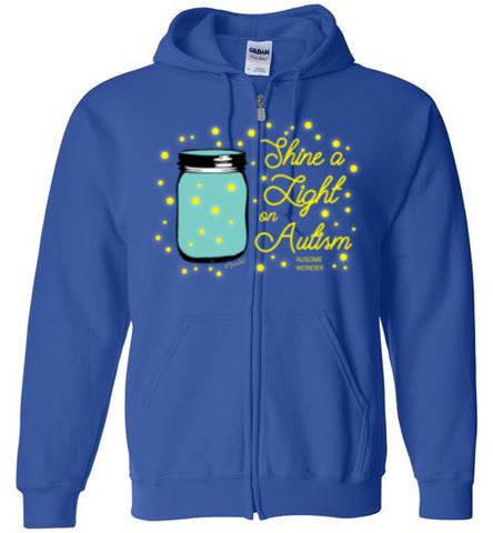 Shine A Light On Autism Zip Hoodie