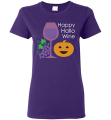 Happy Hallo Wine Halloween Women's T Shirt