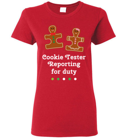 Christmas Holiday Ginger Puzzle Cookie Ladies T Shirt