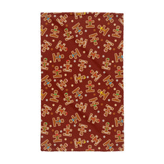 Christmas Holiday Ginger Puzzle Men Hand Towel