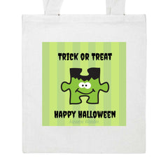 Halloween Franken Puzzle Personalized Trick or Treat Bag