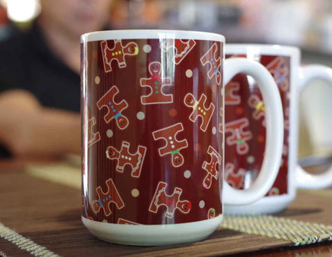 Ginger Puzzle Christmas Holiday Autism Awareness Mug Gift