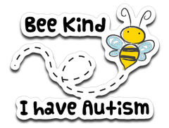 Bee Kind Autism Awareness Sticker Decal
