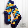 Image of Autism Awareness Puzzle Piece Socks - Holiday Fund