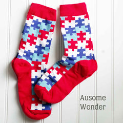 Autism Awareness Puzzle Piece Socks - Holiday Fund