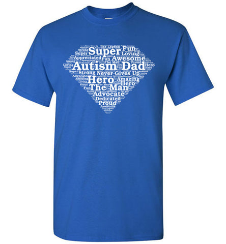 Autism Super Dad T Shirt
