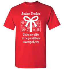 Autism Teacher Christmas Winter Holiday T Shirt