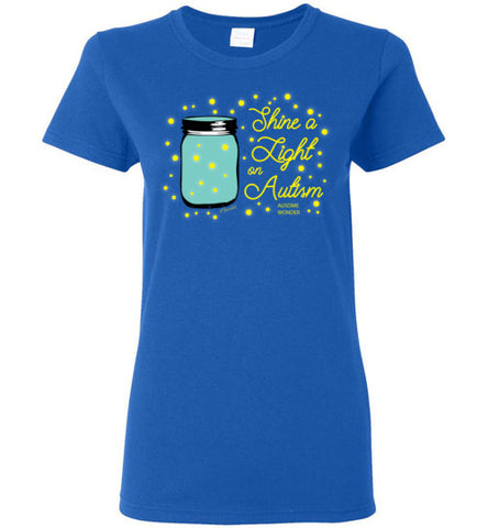 Shine A Light On Autism Ladies T Shirt