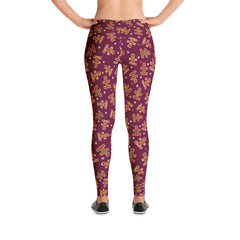 Christmas Holiday Ginger Puzzle Leggings