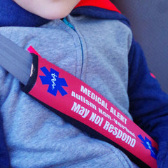 Medical Alert Seat Belt Covers Personalized Custom