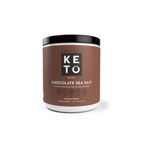 Perfect Keto Base (BHB), Chocolate Sea Salt (211g)