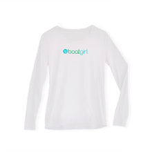Boatgirl Boat Girl Long Sleeve Crew Neck Performance Shirt White
