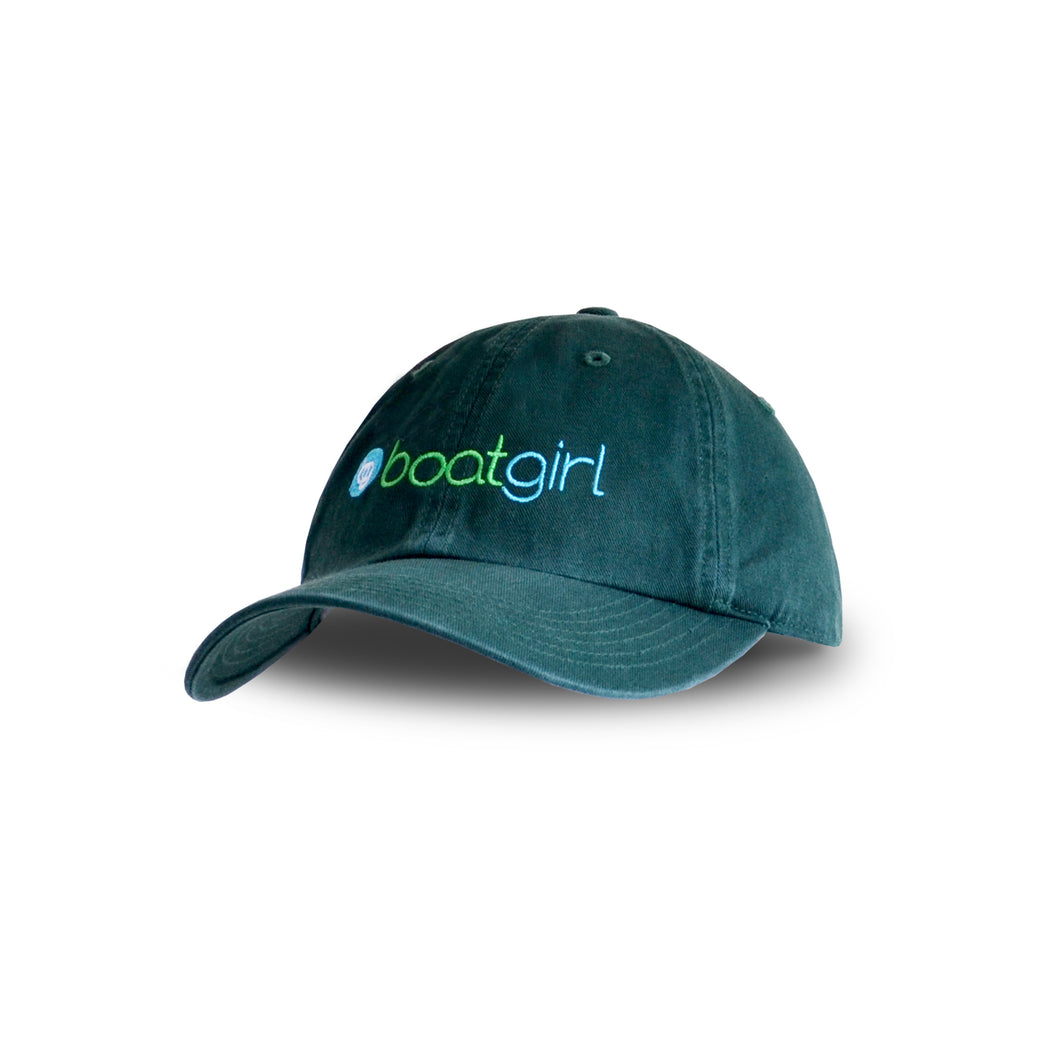 Boatgirl Boat Girl Washed Chino Cap Forest Green