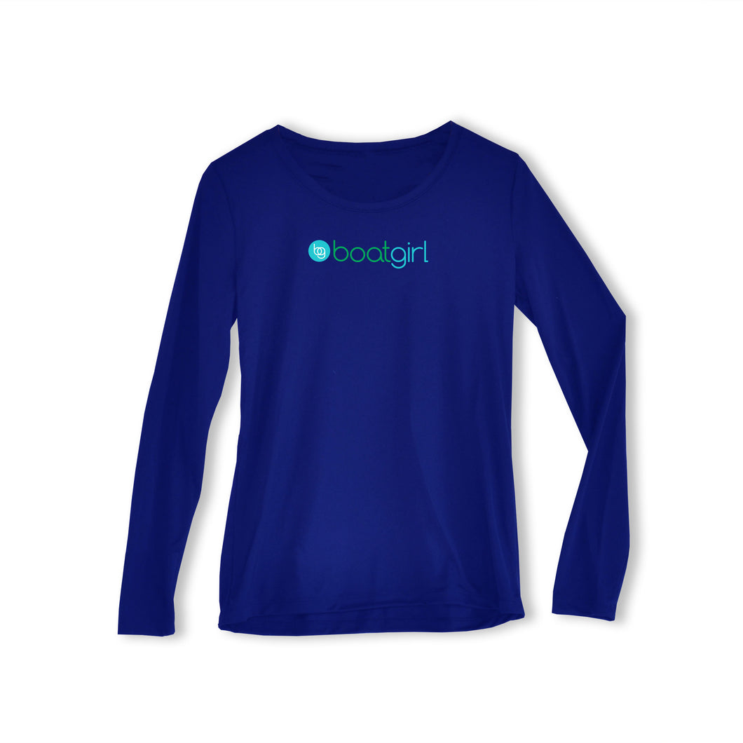 Boatgirl Long-Sleeve Performance Crew Neck