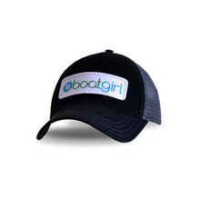 Boatgirl Boat Girl Garment Washed Trucker Hat - Black/Charcoal