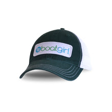 Boatgirl Boat Girl Garment Washed Trucker Hat - Forest Green/White