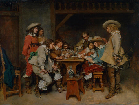 (Above is a depiction of a 17th century game of Piquet, made by Jean-Louis-Ernest Meissonier)