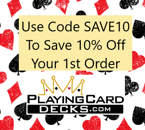 playing card coupon code