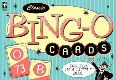 "(In card Bingo, if five of your cards are called you shout out ""Bingo!"")"