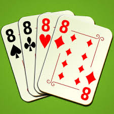 (In Crazy Eights, an 8 of any suit is wild and may be placed as any card)