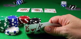 (In Texas Hold'em, you build a hand with two hole cards and three community cards)