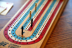 (A traditional 121 Cribbage board)