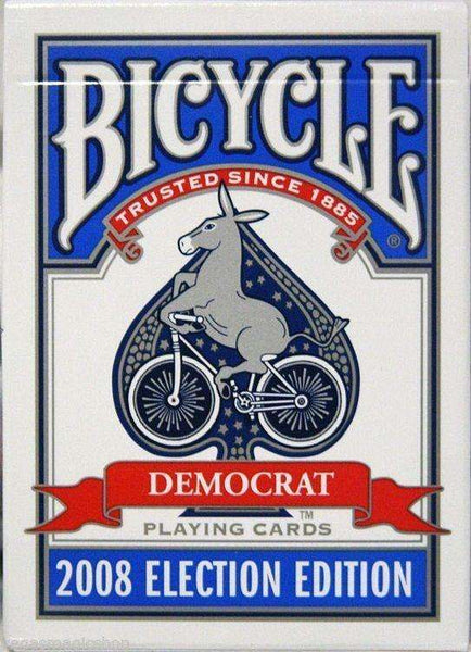 Democrat Blue 2008 Election Bicycle Playing Cards Deck - PlayingCardDecks.com