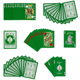 Green Reversed Rider Back v2 Bicycle Playing Cards:PlayingCardDecks.com