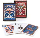 Dragon Back 2 Deck Set Red & Blue Bicycle Playing Cards - PlayingCardDecks.com