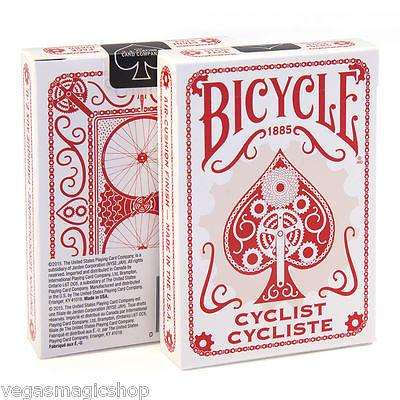 Cyclist Red Bicycle Playing Cards Deck - PlayingCardDecks.com