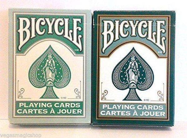Fashion Teal & Dark Green 2 Deck Set Bicycle Playing Cards - PlayingCardDecks.com