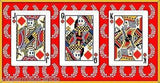 8-Bit Traditional Red Pixelated Bicycle Playing Cards Deck - PlayingCardDecks.com