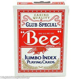 'Bee' Jumbo Index Red Playing Cards Deck - PlayingCardDecks.com