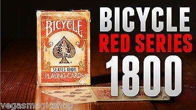 1800 Vintage Red Bicycle Playing Cards Deck - PlayingCardDecks.com