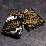 Dream Black Gold Bicycle Playing Cards Deck - PlayingCardDecks.com