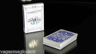Chameleons Blue Playing Cards Deck - PlayingCardDecks.com