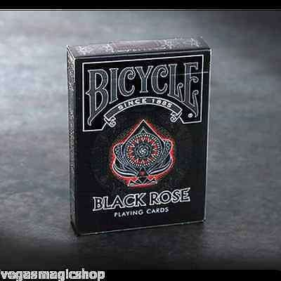 Black Rose Bicycle Playing Cards Deck - PlayingCardDecks.com